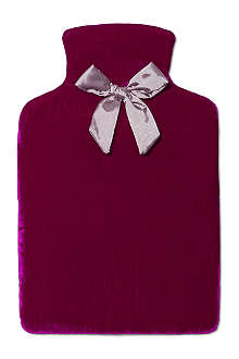 RUBY & ED Velvet hot water bottle cover