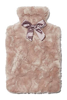 RUBY & ED Crushed fur hot water bottle cover