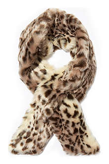 RUBY & ED Faux fur neck warmer