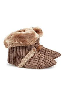 RUBY & ED Shimmer knit slipper boot