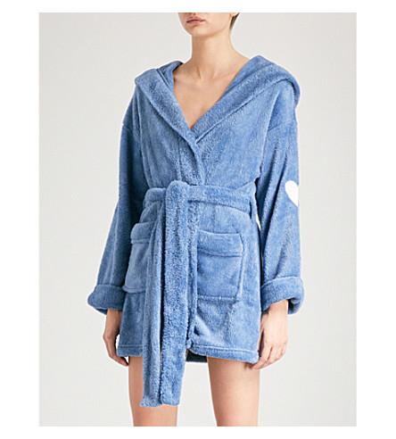 WILDFOX Thunderbolt fleece robe (Night+run