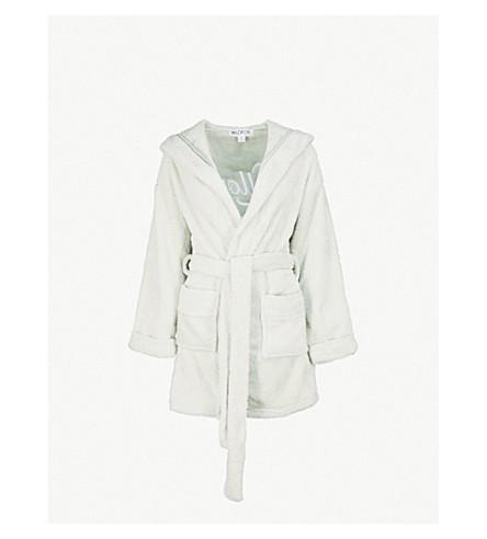 WILDFOX Pillow talk fleece robe (Melange+aqua