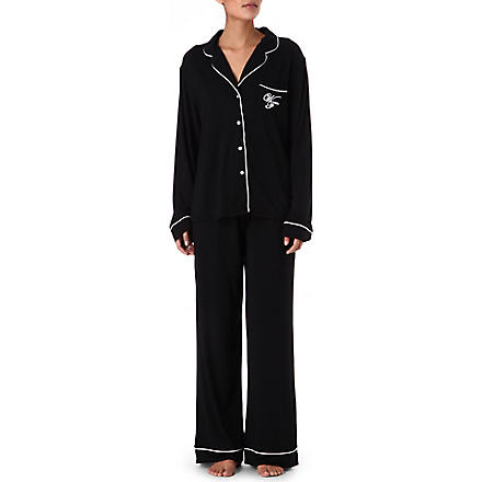 WILDFOX Je t'aime pyjama set (Black/white