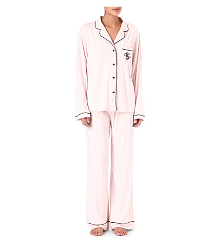 WILDFOX Je t'aime pyjama set (Pink/black