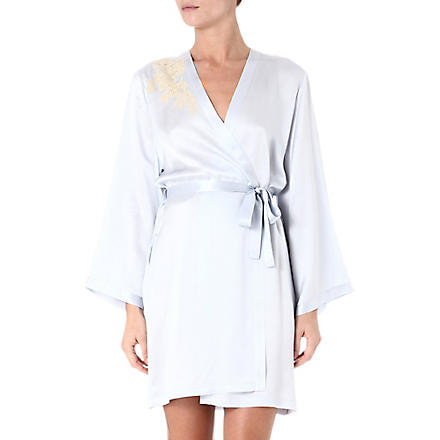 MARJOLAINE Prestige short robe (Cristal/antique