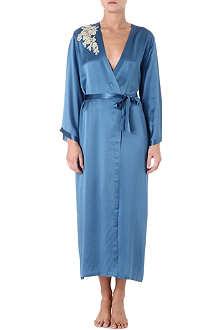 MARJOLAINE Prestige long silk robe