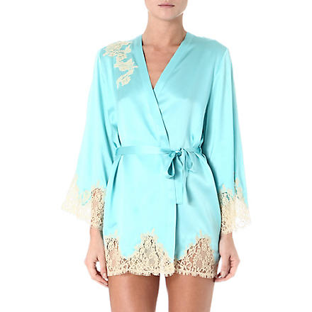 MARJOLAINE Prestige short robe (Glacial/antique