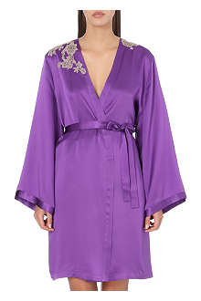 MARJOLAINE Rare silk dressing gown