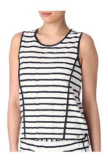 JUICY COUTURE Stripe lace knit sleeveless top