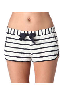 JUICY COUTURE Stripe lace knit shorts