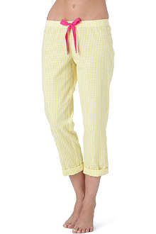 JUICY COUTURE Cotton pin-up pants