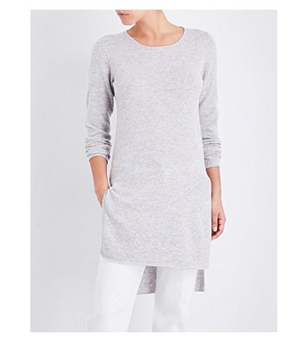 MADELEINE THOMPSON Hooper knitted cashmere sweater (Smoke+grey
