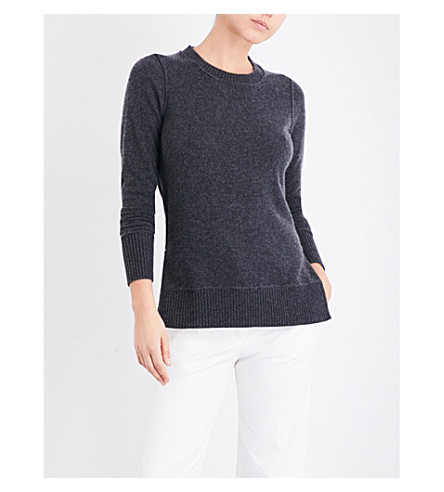 MADELEINE THOMPSON Mei Mei knitted cashmere jumper (Charcoal