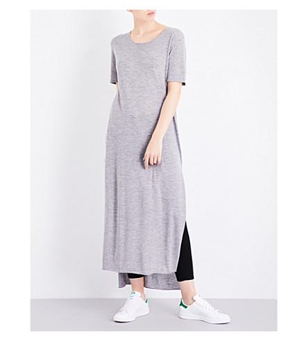 MADELEINE THOMPSON Charter cashmere maxi dress (Light+grey