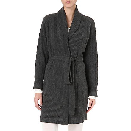 MADELEINE THOMPSON Cable-knit robe (Charcoal