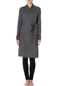 MADELEINE THOMPSON Classic cashmere and silk-blend robe
