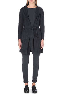 MADELEINE THOMPSON Cable-knit hooded cardigan robe