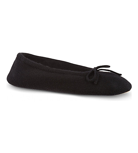 MADELEINE THOMPSON Cashmere luxury slippers (Black