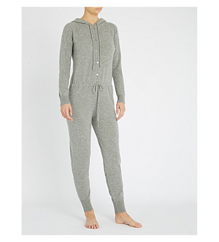 MADELEINE THOMPSON Kalyke hooded cashmere onesie (Light grey