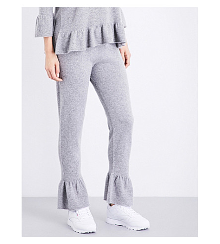 MADELEINE THOMPSON Margot cashmere jogging bottoms (Light+grey