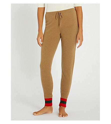 MADELEINE THOMPSON Janus cashmere jogging bottoms (Camel red dark green