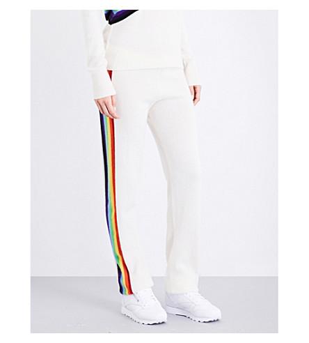 MADELEINE THOMPSON Rainbow cashmere jogging bottoms (Cream+multi