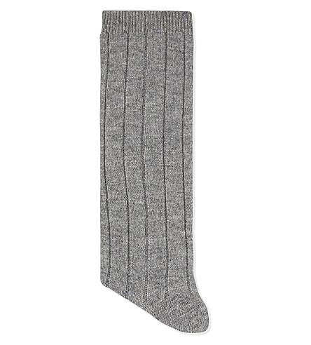 MADELEINE THOMPSON Frances long cashmere socks (Grey
