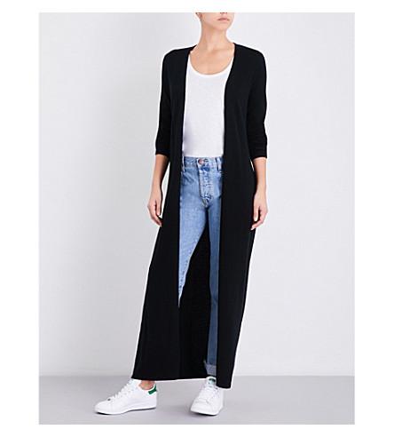 MADELEINE THOMPSON Tie-waist knitted cashmere dressing gown (Black