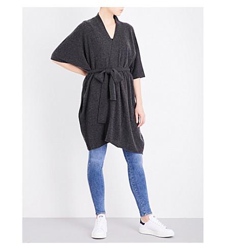 MADELEINE THOMPSON Briar tie-waist cashmere cardigan (Charcoal