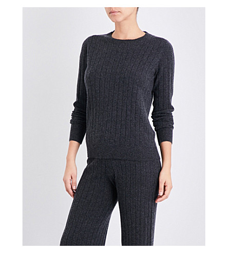 MADELEINE THOMPSON Elliot knitted cashmere jumper (Charcoal