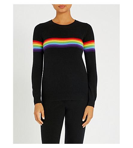 MADELEINE THOMPSON琥珀绒跳线 (黑色 + 带 + 彩虹
