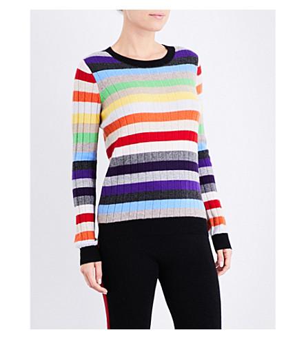 MADELEINE THOMPSON Amber cashmere jumper (Rainbow++strip