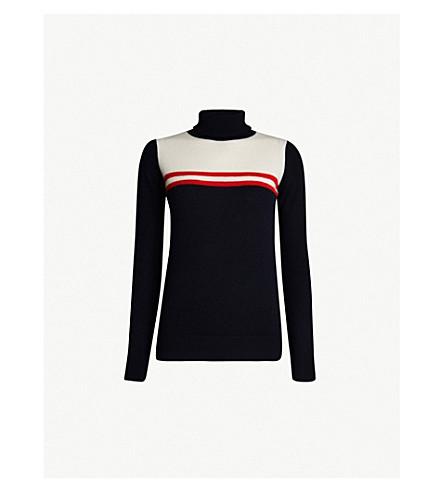 MADELEINE THOMPSON Eugenia turtleneck cashmere jumper (Navy/white
