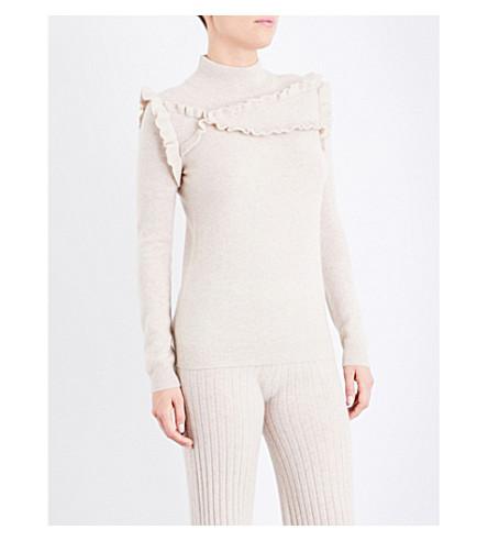 MADELEINE THOMPSON Antonia high neck cashmere jumper (Wheat