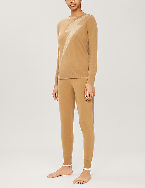 MADELEINE THOMPSON Eros bolt-print cashmere jumper