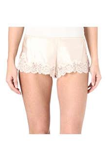 NK IMODE Retro tap silk shorts