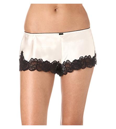 NK IMODE Retro tap shorts (Champagne/black
