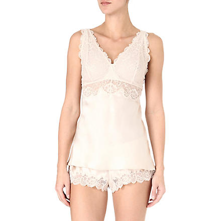 NK IMODE Silk and lace camisole (Champagne