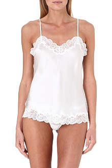 NK IMODE Lace-detailed silk camisole