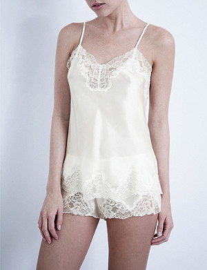 NK IMODE Silk-satin and lace camisole