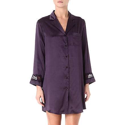 NK IMODE Lace trim nightshirt (Ink/ink