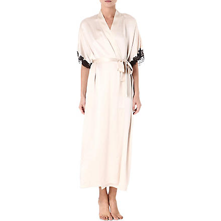 NK IMODE Lace and silk robe (Champagne