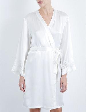 NK IMODE Silk v-neck robe