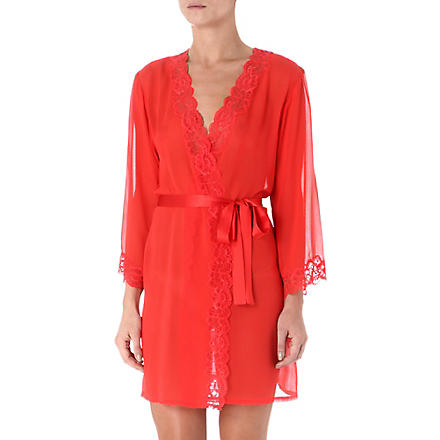 NK IMODE Morgan lace robe (Poppy w/poppy lace