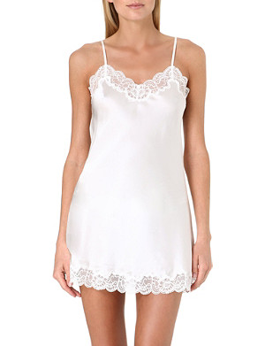 NK IMODE Lace-detailed silk chemise