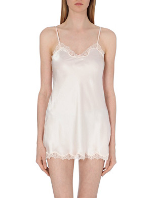 NK IMODE Silk-satin and lace slip