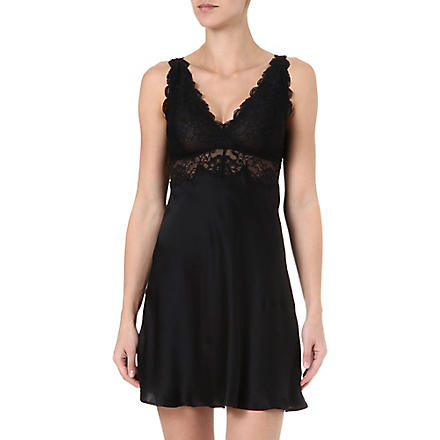 NK IMODE Silk and lace chemise (Black