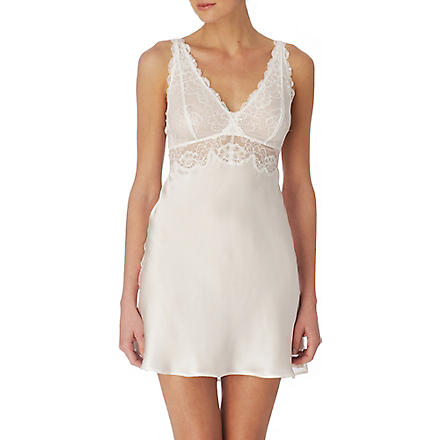 NK IMODE Silk and lace chemise (Ivory