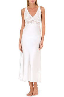 NK IMODE Scalloped lace and silk gown