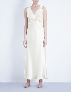 NK IMODE Silk-satin and lace nightgown